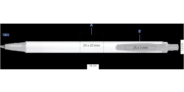 Marquage Stylo BIC Clic Stic Softfeel bille