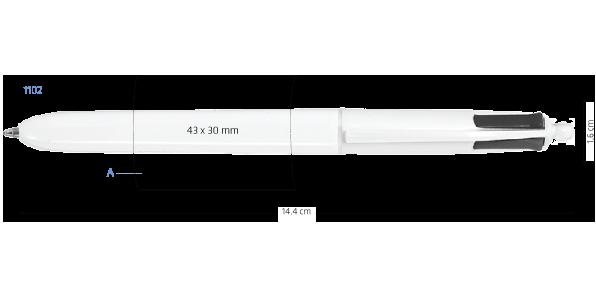 Marquage Stylo Bic 4 couleurs bille publicitaire 1102