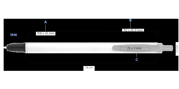 Marquage multifonction BIC Clic Stic Stylus Digital bille 1848