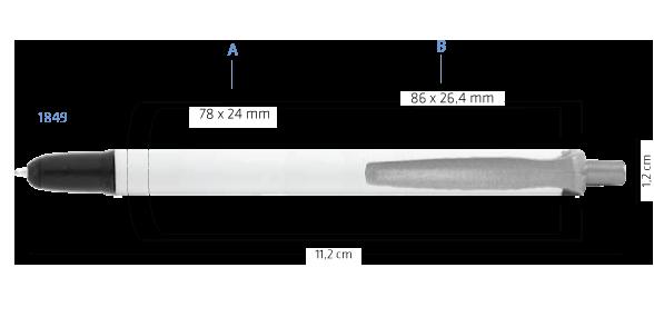 Marquage multifonction BIC Clic Stic Mini Stylus Digital bille 1849