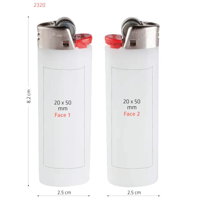 surface briquet Bic standard 2320 publicitaire