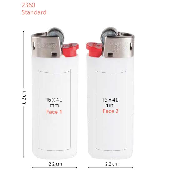 surface briquet Bic standard 2360 publicitaire