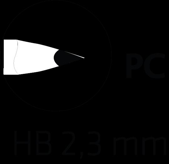 Mine HB 2.7 mm graphite crayon papier