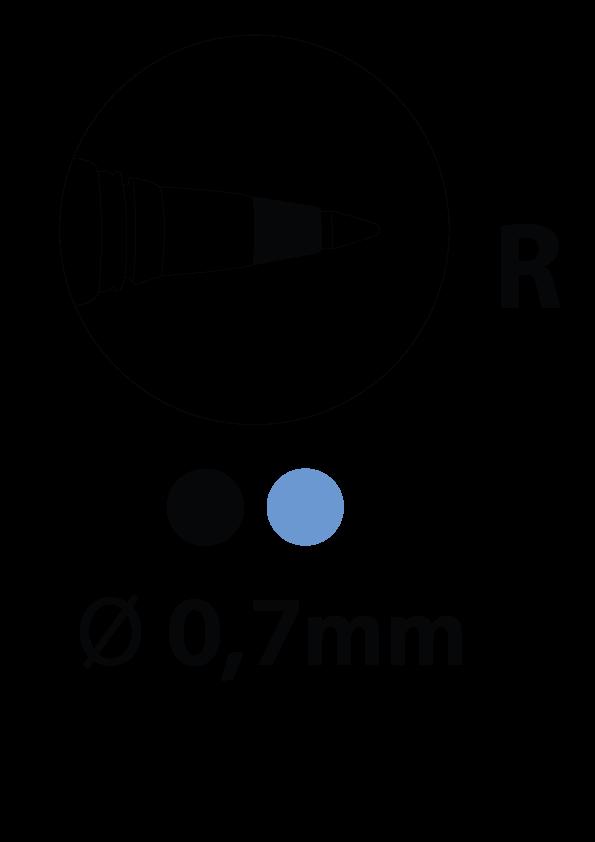 Roller ball pointe fine