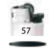 57-Blanc Opaque / Noir / Noir