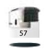 57-Blanc Opaque / Chrome / Noir / Noir