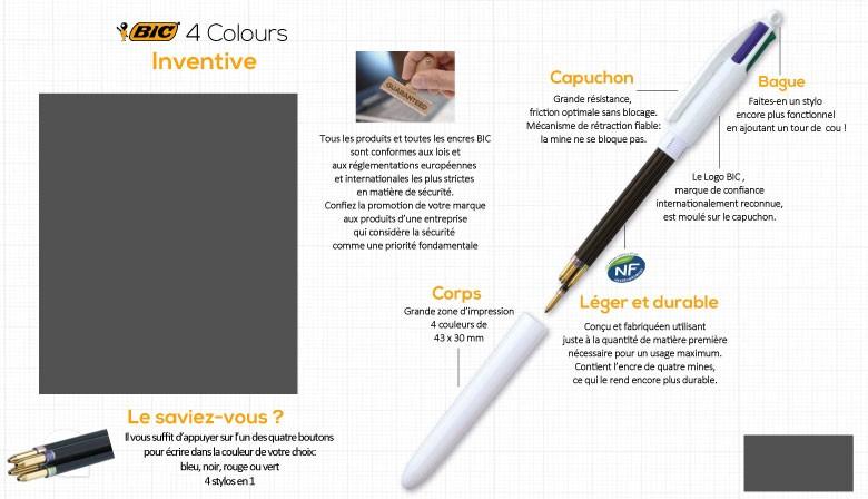 Stylo BIC® 4 Colours Publicitaire
